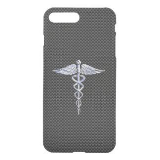 Chrome Like Caduceus Medical Symbol Carbon Fiber iPhone 7 Plus Case