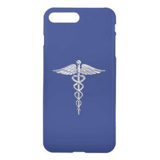 Chrome Like Caduceus Medical Symbol Navy Blue Deco iPhone 7 Plus Case