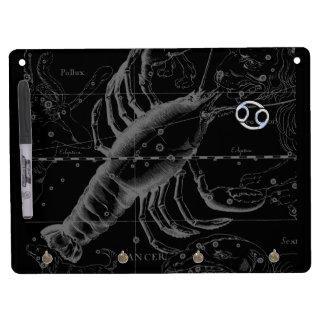 Chrome like Cancer Zodiac Constellation Hevelius Dry Erase Board With Keychain Holder