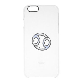 Chrome Like Cancer Zodiac Sign Clear iPhone 6/6S Case