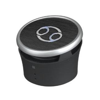 Chrome Like Cancer Zodiac Sign on Black Speaker