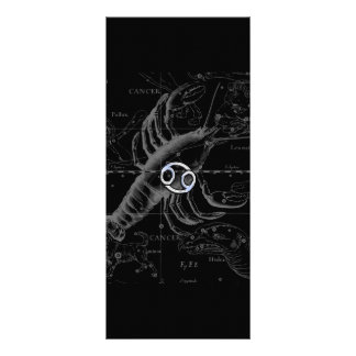 Chrome like Cancer Zodiac Sign on Hevelius Rack Card