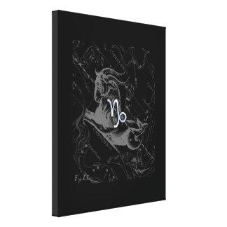 Chrome like Capricorn Zodiac Sign on Hevelius Canvas Print
