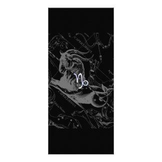 Chrome like Capricorn Zodiac Sign on Hevelius Rack Card