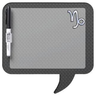 Chrome like Capricorn Zodiac Symbol on Snake Skin Dry Erase Board