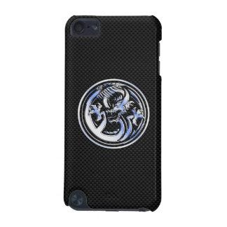 Chrome like Dragon Crest Carbon Fiber Print iPod Touch (5th Generation) Case