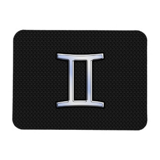 Chrome Like Gemini Zodiac Sign Magnet
