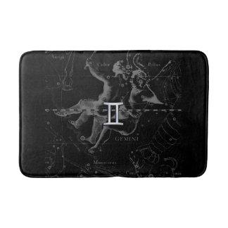 Chrome like Gemini Zodiac Symbol on Hevelius Bath Mat