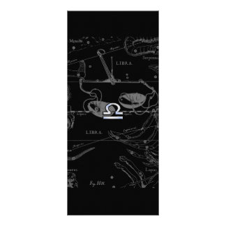 Chrome like Libra Zodiac Sign on Hevelius Rack Card