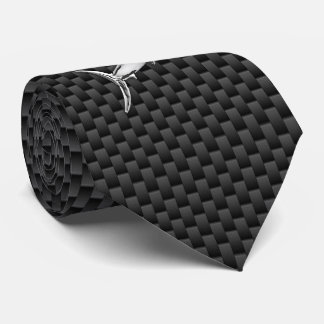 Chrome like Marlin on Carbon Fiber print Tie