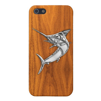 Chrome Like Marlin on Teak Decor Case For iPhone SE/5/5s