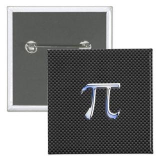 Chrome Like Pi Symbol in Carbon Fiber Style Button