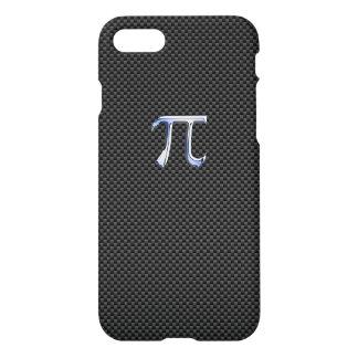 Chrome Like Pi Symbol on Carbon Fiber iPhone 8/7 Case