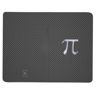 Chrome Like Pi Symbol on Carbon Fiber Print Journal