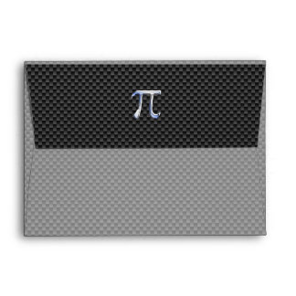 Chrome Like Pi Symbol on Carbon Fiber Style Envelope
