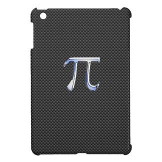 Chrome Like Pi Symbol on Carbon Fiber Style iPad Mini Covers