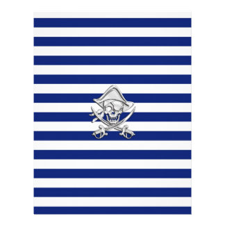 Chrome Like Pirate on Navy Stripes Letterhead