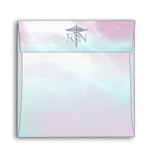 Chrome Like RN Caduceus Medical Mother Pearl Envelopes