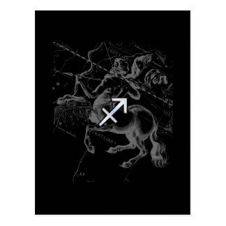 Chrome Like Sagittarius Zodiac Sign Hevelius Decor Postcard