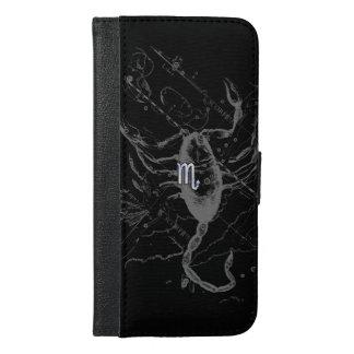 Chrome like Scorpio Zodiac Sign on Hevelius 1690 iPhone 6/6s Plus Wallet Case
