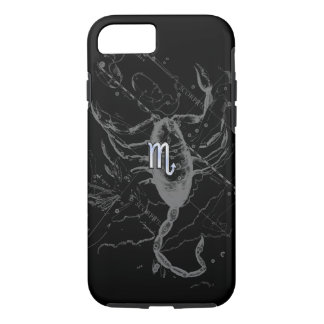 Chrome like Scorpio Zodiac Sign on Hevelius iPhone 7 Case