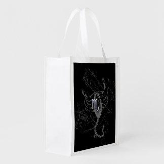 Chrome like Scorpio Zodiac Sign on Hevelius Reusable Grocery Bag