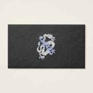 Chrome like silver Dragon Black Snake Skin style Business Card