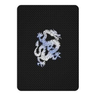 Chrome like silver Dragon Black Snake Skin style Card