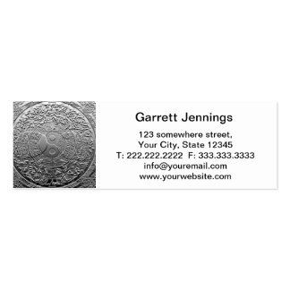 Chrome Look Tree of Life Yin Yang Double-Sided Mini Business Cards (Pack Of 20)