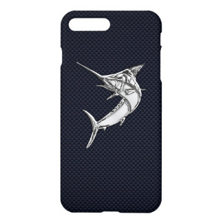 Chrome Marlin on Carbon Fiber iPhone 7 Plus Case