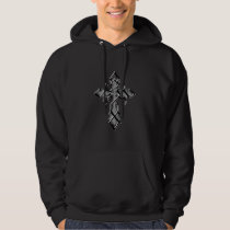 Chrome Medieval Cross  Hooded Sweatshirt