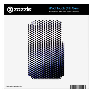 chrome mesh iPod touch 4G skin