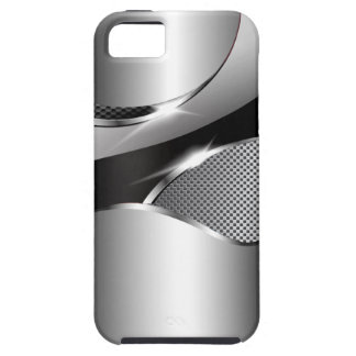Chrome Mesh Metallic Swoop black iPhone 5 Cover