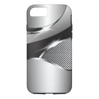 Chrome Mesh Metallic Swoop black iPhone 8/7 Case