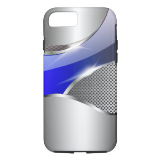Chrome Mesh Metallic Swoop blue iPhone 8/7 Case