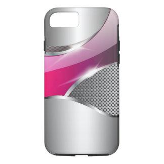 Chrome Mesh Metallic Swoop fuschia iPhone 8/7 Case