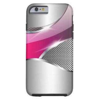 Chrome Mesh Metallic Swoop fuschia Tough iPhone 6 Case