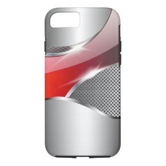 Chrome Mesh Metallic Swoop red iPhone 8/7 Case