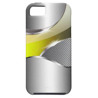 Chrome Mesh Metallic Swoop yellow iPhone SE/5/5s Case