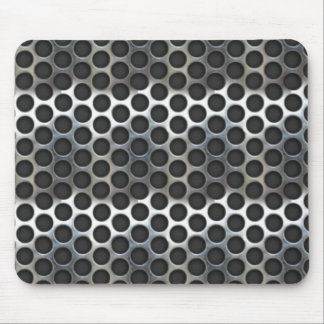 Chrome, metal mesh looking steel design mouse pad