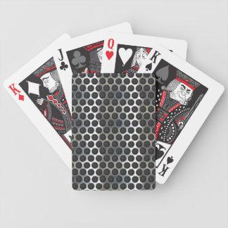 Chrome, metal mesh looking steel design bicycle poker cards