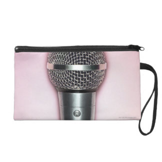 Chrome Microphone Wristlet Clutches