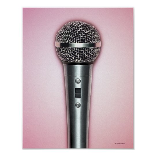 Chrome Microphone Poster