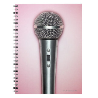 Chrome Microphone Spiral Notebook