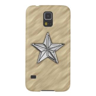 Chrome Nautical Star on Sandy Beach Print Galaxy S5 Case