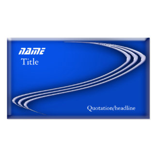 Chrome on Blue Double-Sided Standard Business Cards (Pack Of 100)