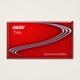 Chrome on Red Business Card