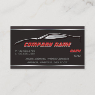 Outline business cards zazzle chrome outline corvette business cards colourmoves