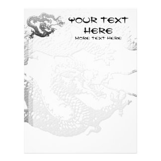 Chrome Paint Dragon Custom Letterhead