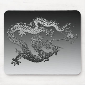 Chrome Paint Dragon Mouse Pad
